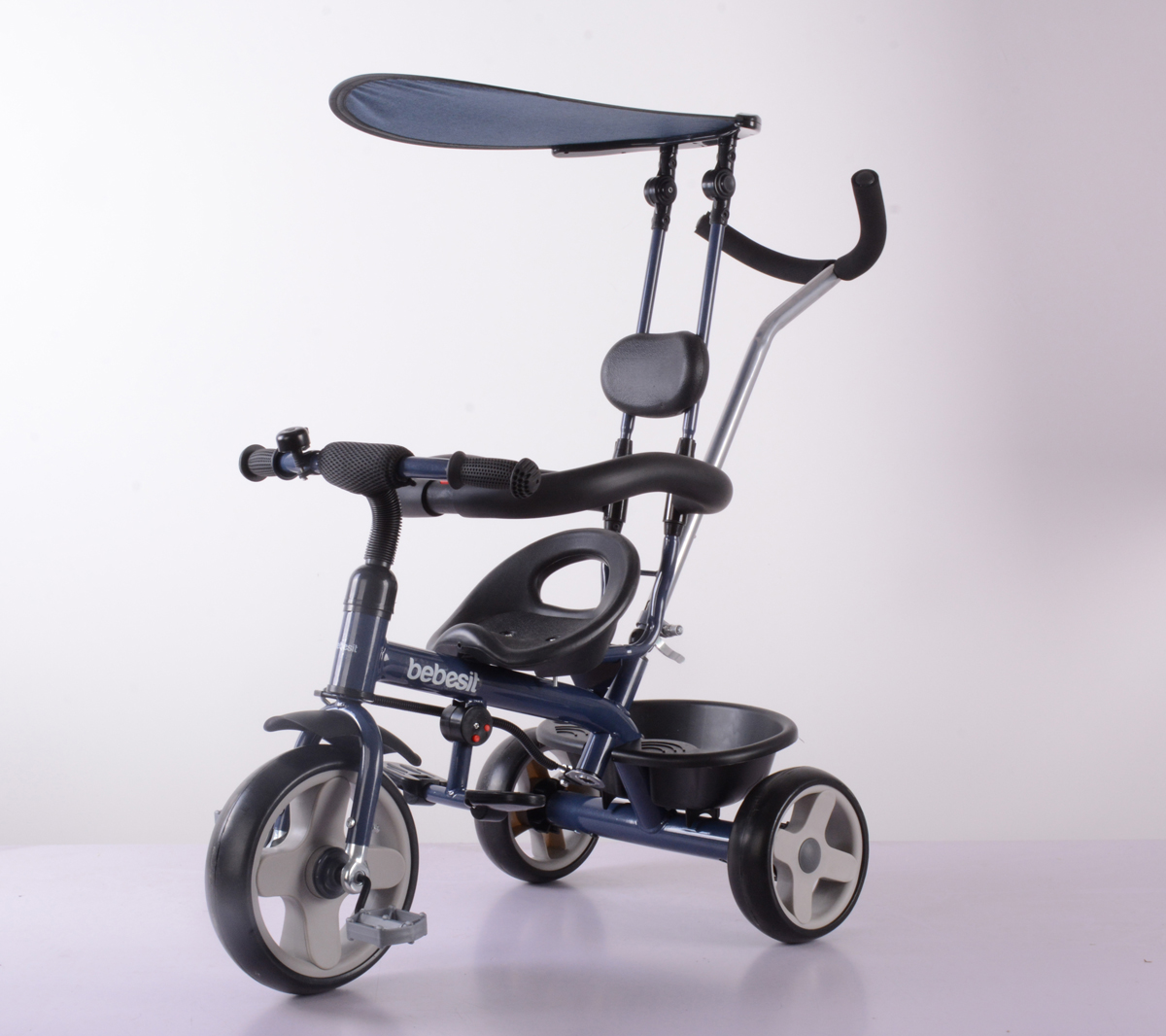BEBESIT Triciclo con Capota Azul