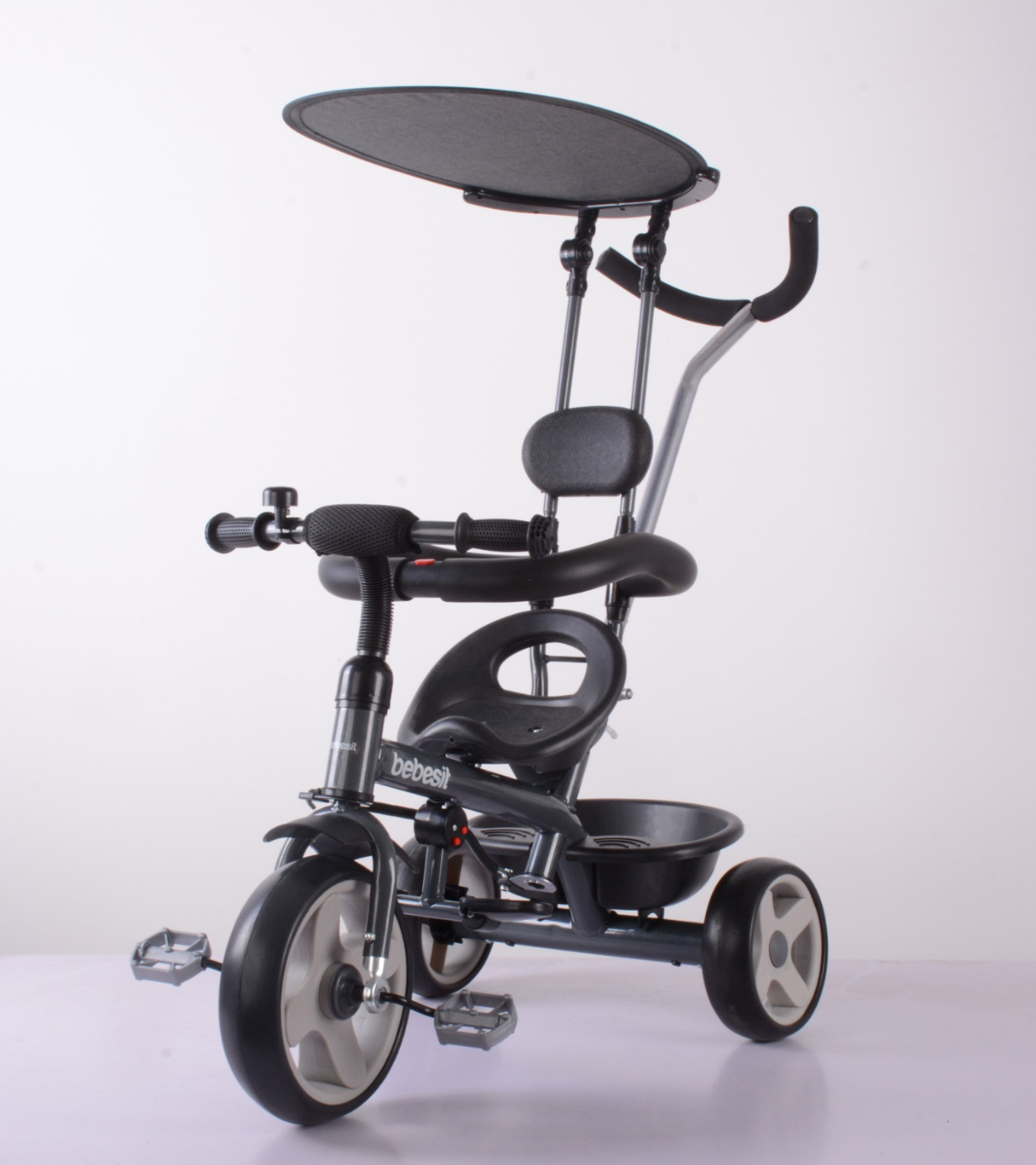 BEBESIT Triciclo con Capota Gris
