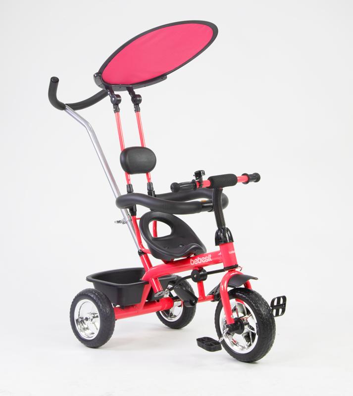 BEBESIT Triciclo con Capota Rojo