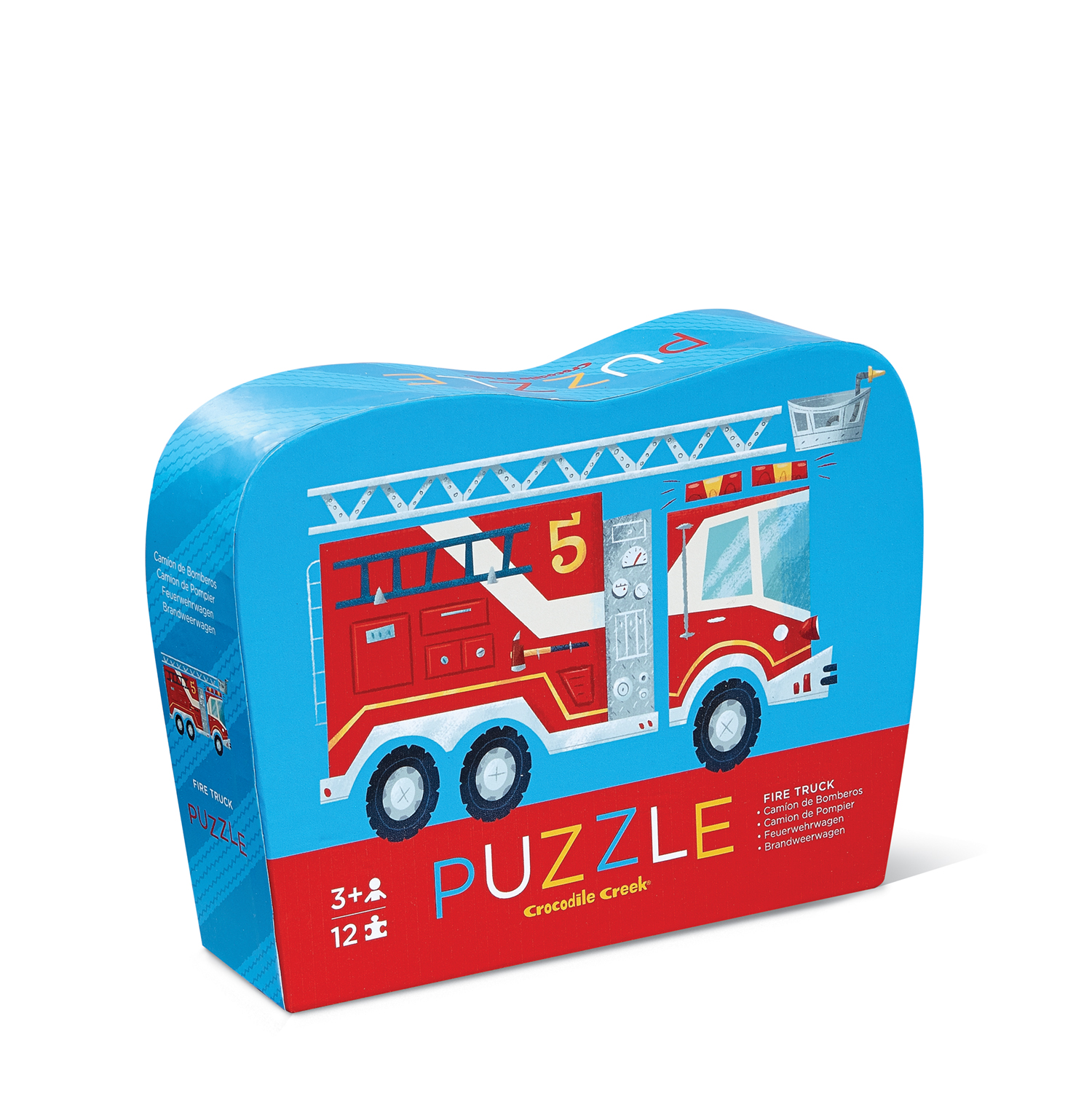 Crocodile Creek Mini Puzzle 12pz Bomberos