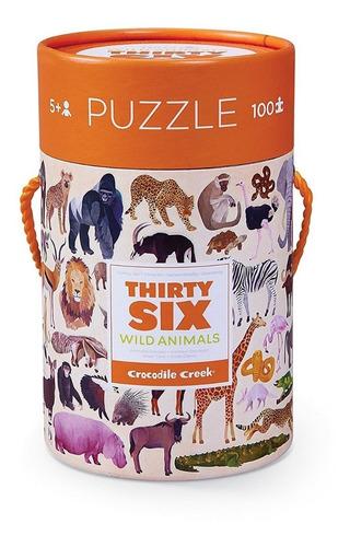 Crocodile Creek Puzzle Animales Salvajes