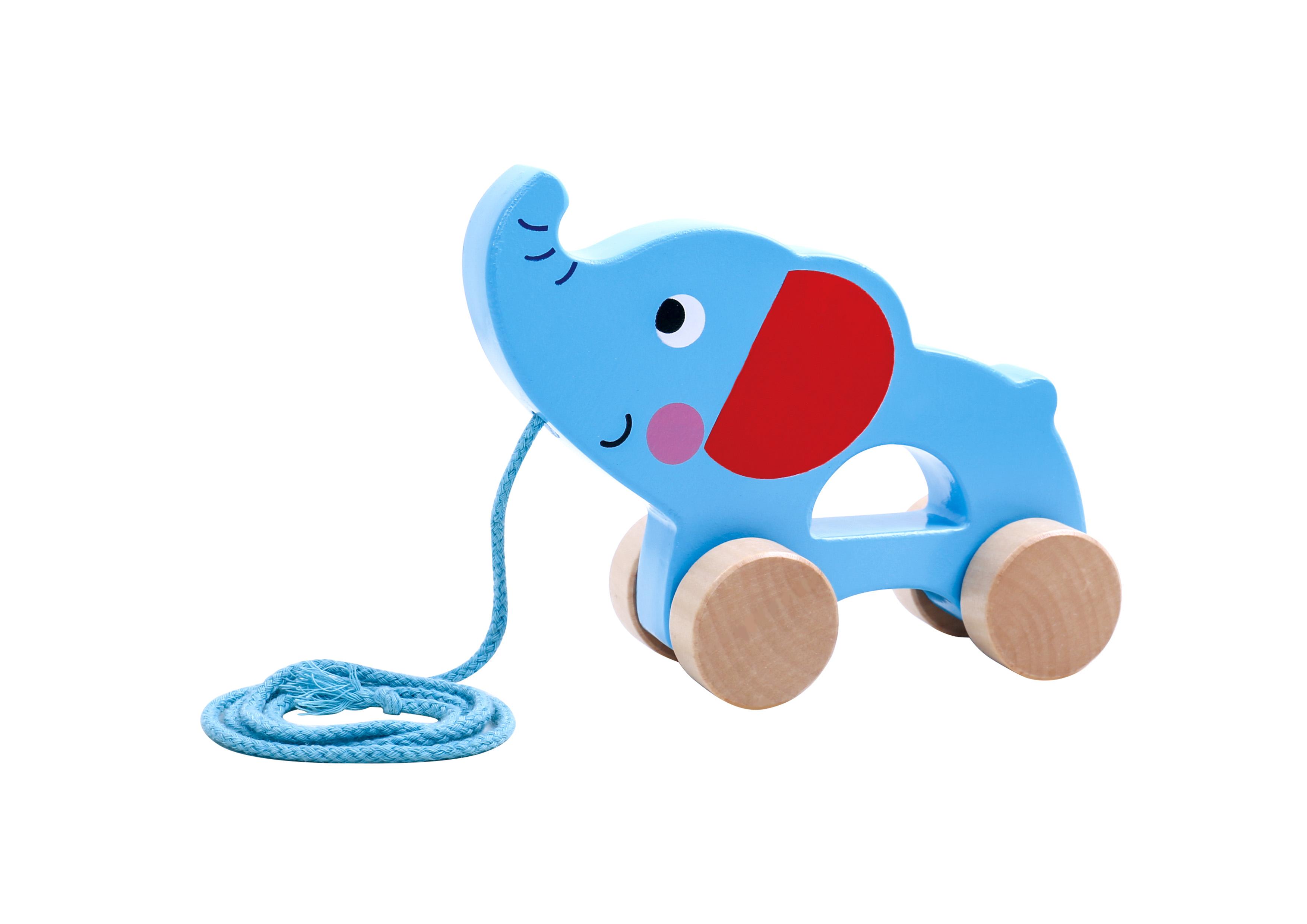 Tooky Toy Elefante de Arrastre