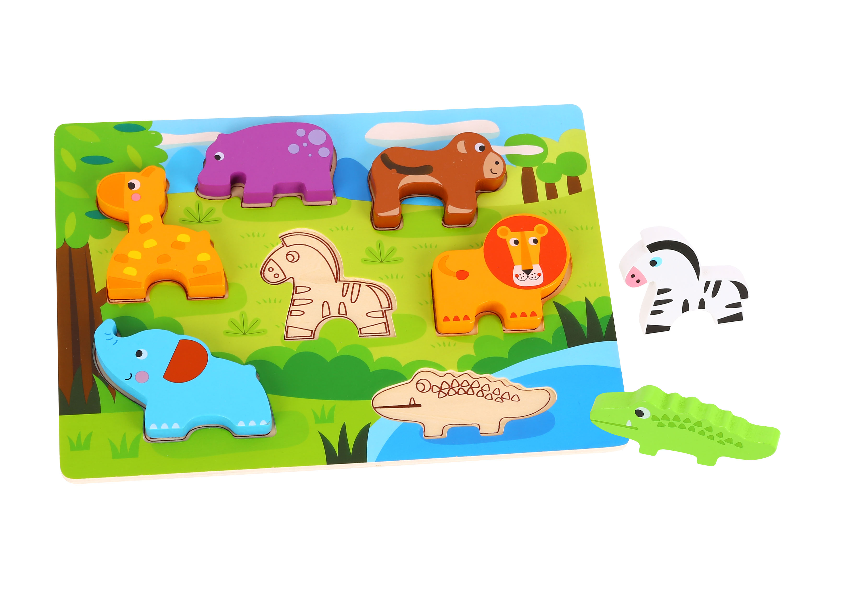 Tooky Toy Puzzle Madera 3D Animales