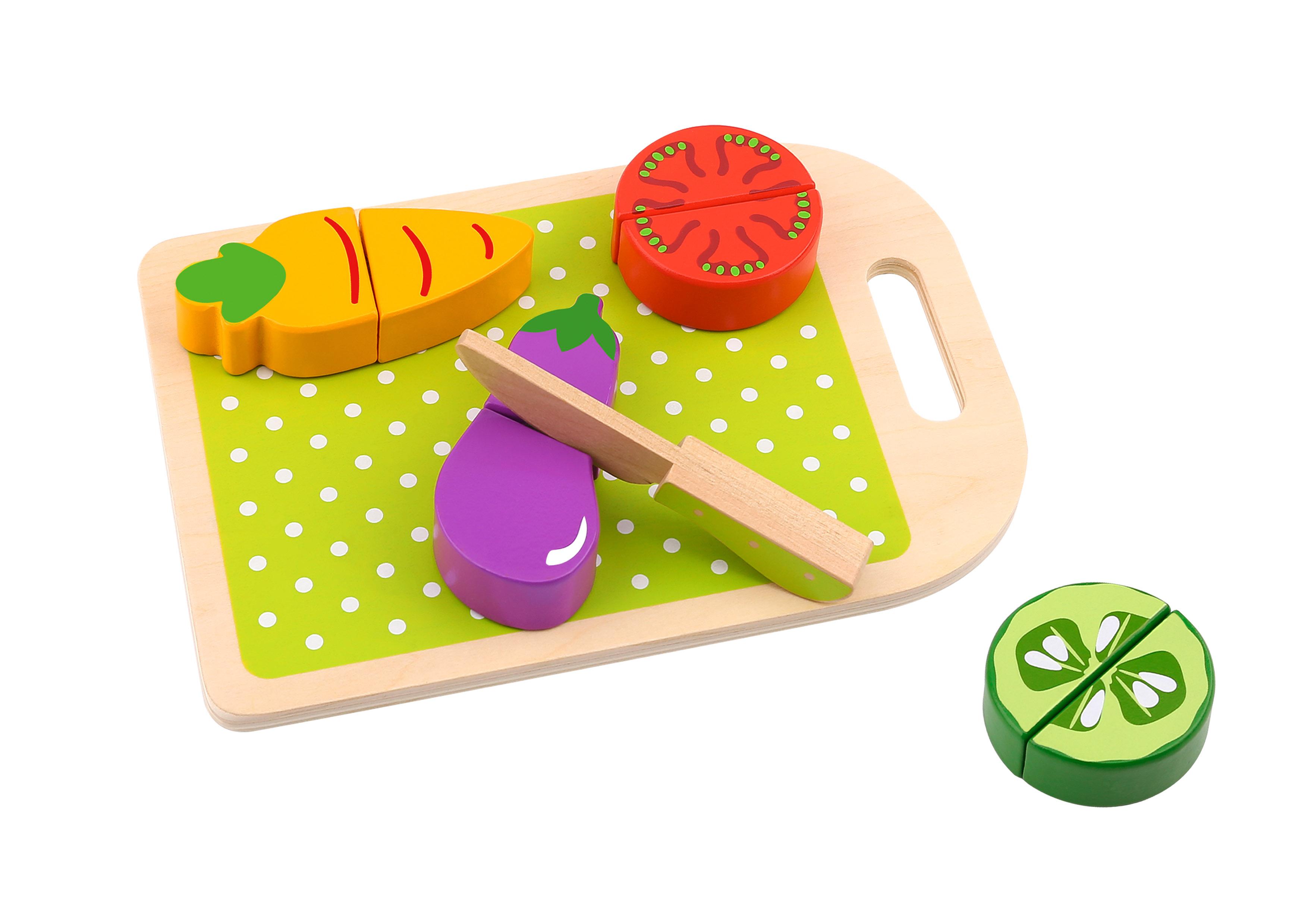 Tooky Toy Verduras de Madera