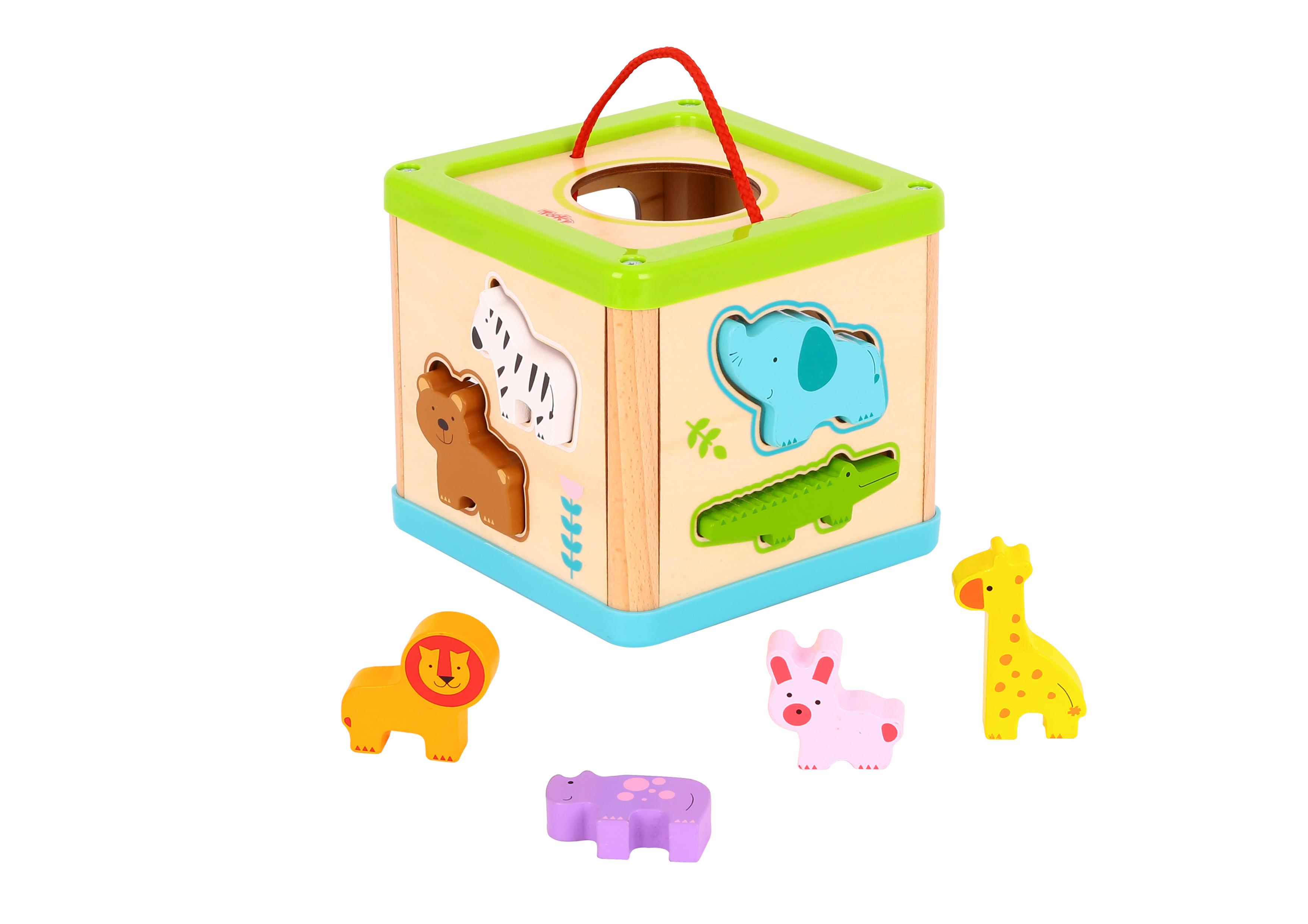 Tooky Toy Cubo Animales de Encastre