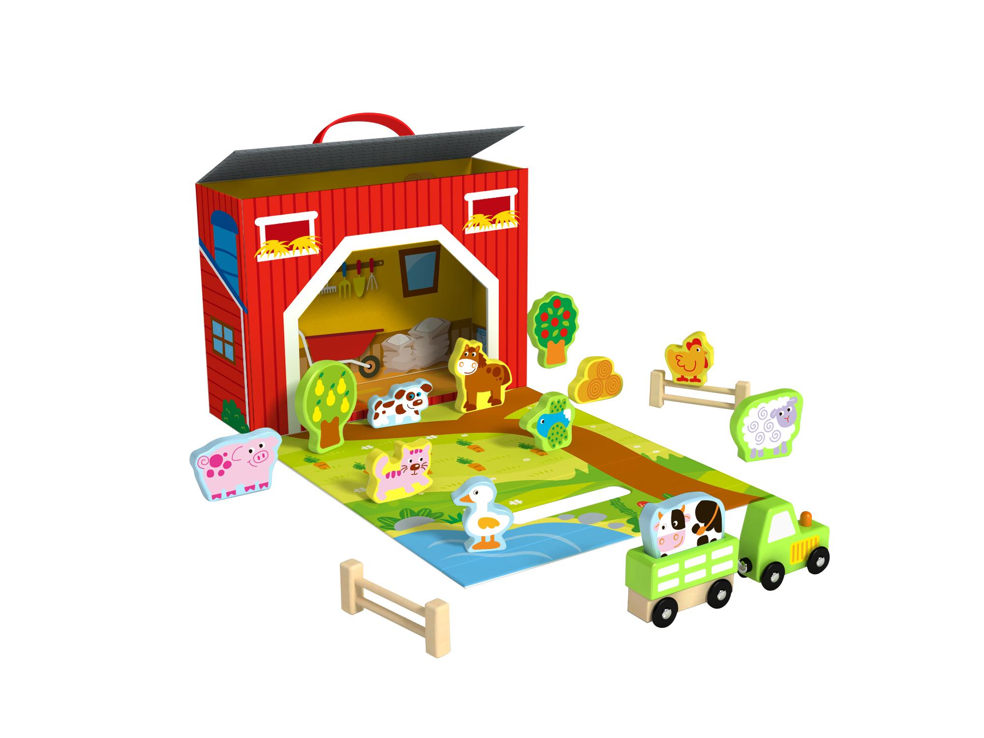 Tooky Toy Caja de la Granja