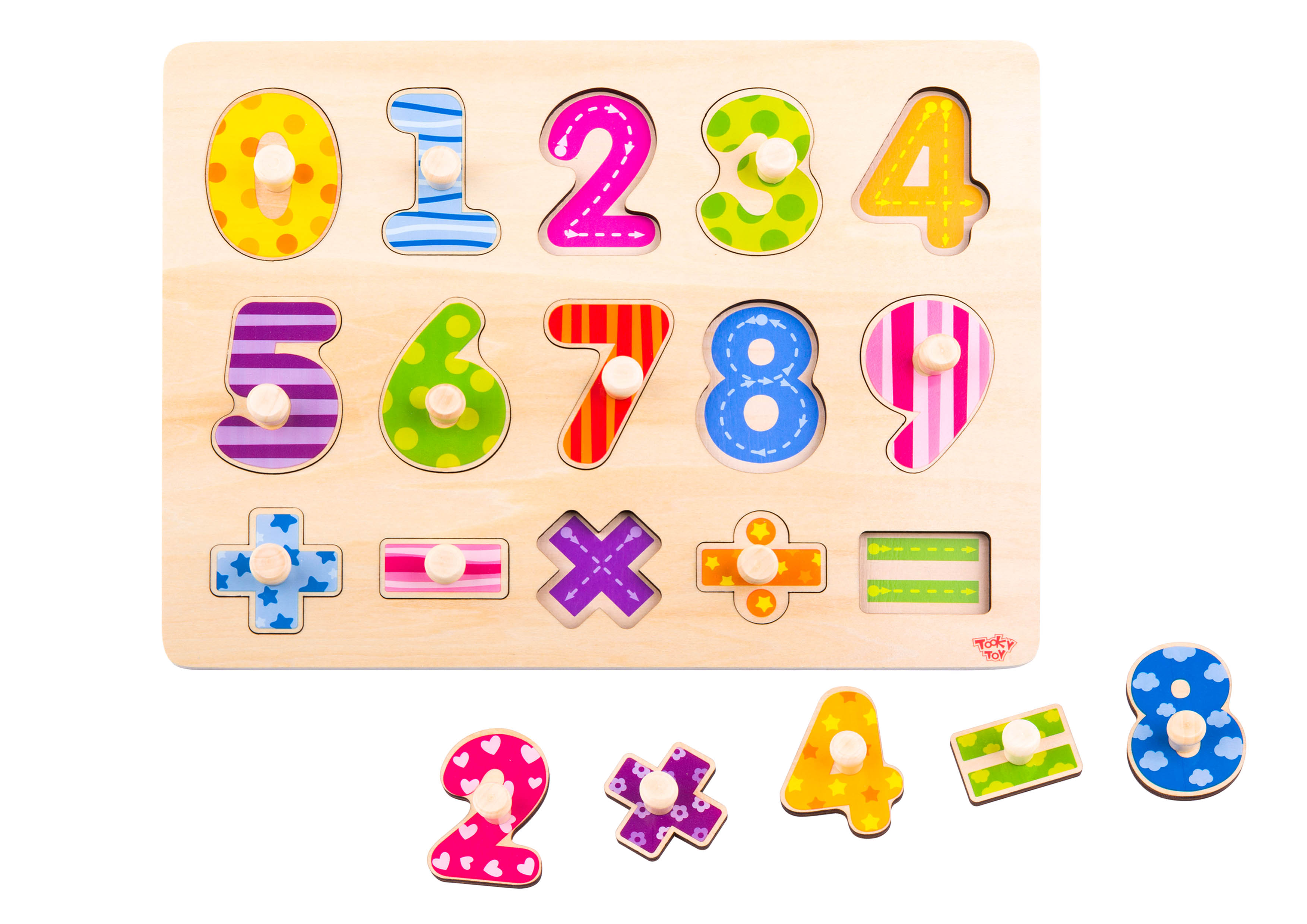 Tooky Toy Puzzle Madera Numeros