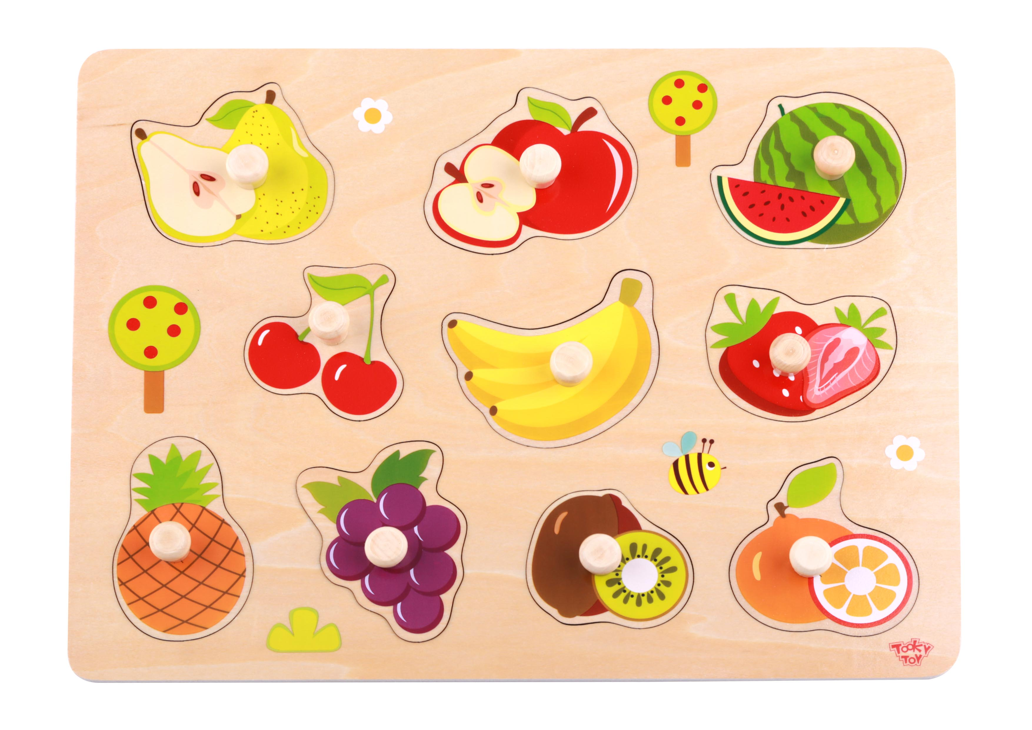 Tooky Toy Puzzle Madera Frutas