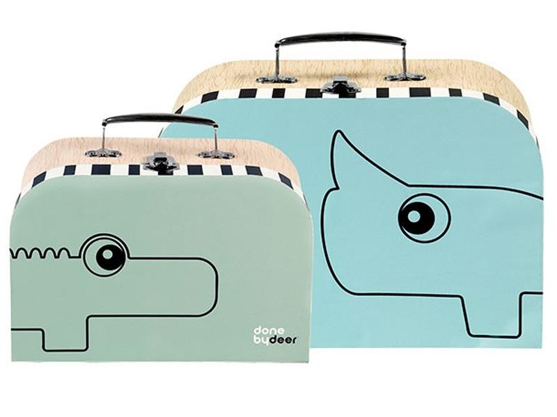 DONE BY DEER Set maletas x 2 Celeste