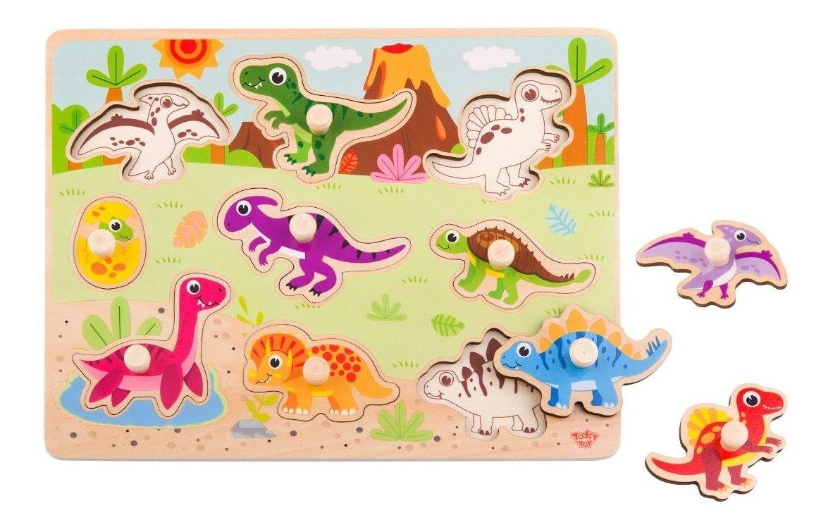 Tooky Toy Puzzle Madera Dinosaurios