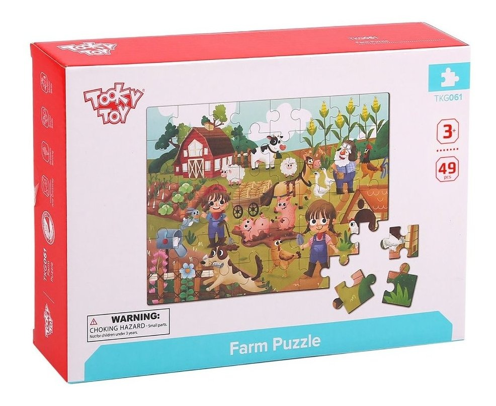 Tooky Toy Puzzle de la Granja