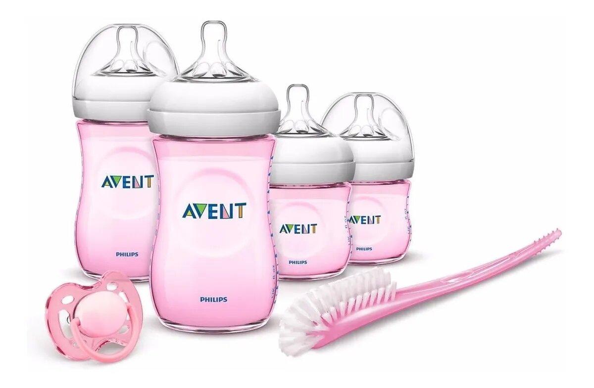 Avent Set Recien Nacido Natural rosado