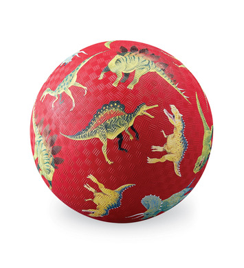 crocodile creek pelota 12 cm dinos rojos